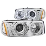 2000 GMC Sierra Clear Projector Headlights with Halo