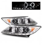 Kia Sportage 2011-2012 Projector Headlights Chrome CCFL Halo LED DRL