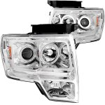 2010 Ford F150 Clear Projector Headlights with CCFL Halo and LED