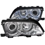 BMW E46 Sedan 3 Series 2002-2005 Clear Projector Headlights with Halo