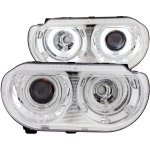 2012 Dodge Challenger Projector Headlights Chrome CCFL Halo