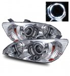 2004 Honda Civic Projector Headlights Chrome Halo