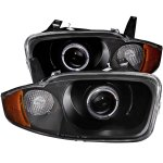 Chevy Cavalier 2003-2005 Black Projector Headlights Halo