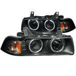 BMW 3 Series Coupe 1992-1998 Projector Headlights Black Halo