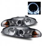 Mitsubishi Eclipse 1997-1999 Projector Headlights Chrome Halo