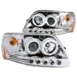 2002 Ford F150 Clear Projector Headlights with Halo and LED
