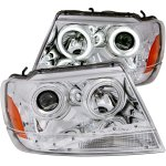 2004 Jeep Grand Cherokee Projector Headlights Chrome LED DRL CCFL Halo