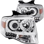 2010 Ford Expedition Projector Headlights Chrome CCFL Halo LED