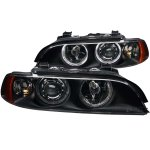 BMW 5 Series 1997-2003 Projector Headlights Black Halo