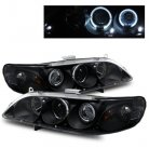 2002 Honda Accord Projector Headlights Black CCFL Halo