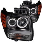 Dodge Nitro 2007-2011 Projector Headlights Black CCFL Halo
