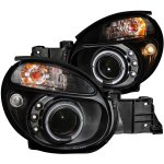 Subaru Impreza 2002-2003 Projector Headlights Black Halo LED