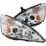 2007 Honda Accord Projector Headlights Chrome Halo LED