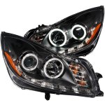 2011 Buick Regal Projector Headlights Black CCFL Halo LED DRL