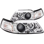 Ford Mustang 1999-2004 Projector Headlights Chrome