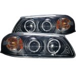 2003 Chevy Impala Black Projector Headlights Halo LED