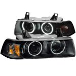 1998 BMW 3 Series Coupe Projector Headlights Black CCFL Halo