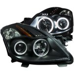 Nissan Altima Coupe 2008-2010 Projector Headlights Black CCFL Halo LED