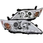 2010 Toyota Camry Projector Headlights Chrome CCFL Halo LED DRL