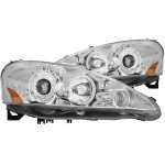 2006 Acura RSX Clear Projector Headlights CCFL Halo LED