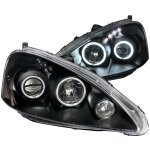 Acura RSX 2005-2006 Black Projector Headlights CCFL Halo LED