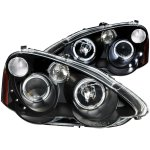 Acura RSX 2002-2004 Black Projector Headlights Halo LED