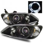 2004 Honda Civic Projector Headlights Black Halo