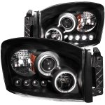 2006 Dodge Ram Projector Headlights Black Halo LED
