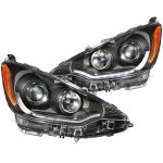 Toyota Prius c 2012-2013 Projector Headlights Black LED Bar