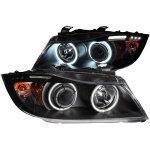 BMW 3 Series Sedan 2006-2008 Projector Headlights Black CCFL Halo LED