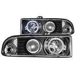 2002 Chevy S10 Pickup Projector Headlights Black Halo