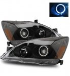 2005 Honda Accord Projector Headlights Black Halo