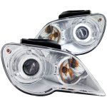 Chrysler Pacifica 2007-2008 Projector Headlights Chrome CCFL Halo
