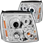 2006 Cadillac Escalade HID Projector Headlights Chrome CCFL Halo LED