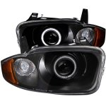 Chevy Cavalier 2003-2005 Black Projector Headlights CCFL Halo