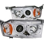 2004 Scion xB Projector Headlights Chrome Halo LED