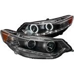 2010 Acura TSX Black HID Projector Headlights CCFL Halo LED DRL