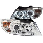 BMW 3 Series Sedan 2006-2008 Projector Headlights Chrome CCFL Halo LED