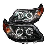 Subaru Forester 2009-2012 Projector Headlights Black CCFL Halo LED DRL