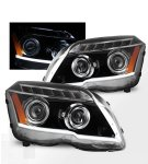 Mercedes Benz GLK 2009-2012 Black Projector Headlights