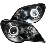 Chrysler Pacifica 2007-2008 Projector Headlights Black CCFL Halo