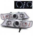 1997 Honda Accord Projector Headlights Chrome Halo LED