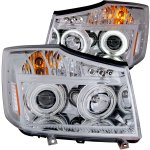 2012 Nissan Titan Projector Headlights Chrome CCFL Halo LED