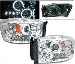 2009 Dodge Ram 2500 Projector Headlights Chrome CCFL Halo LED