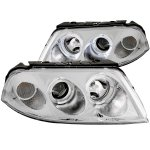 VW Passat 2002-2005 Projector Headlights Chrome Halo