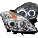 Nissan Altima Coupe 2008-2010 Projector Headlights Chrome CCFL Halo LED
