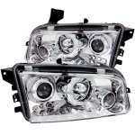 2007 Dodge Charger Projector Headlights Chrome Halo LED