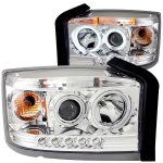 2007 Dodge Dakota Projector Headlights Chrome Halo LED