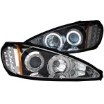 2002 Pontiac Grand AM Projector Headlights Black CCFL Halo LED