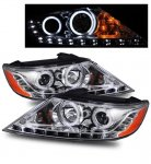 Kia Sorento 2011-2012 Projector Headlights Chrome CCFL Halo LED DRL
